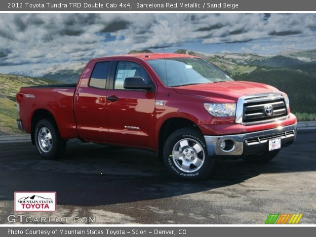 barcelona red metallic 2012 toyota tundra trd double cab 4x4 sand beige interior gtcarlot. Black Bedroom Furniture Sets. Home Design Ideas