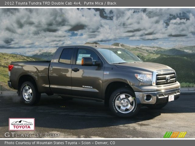 pyrite mica 2012 toyota tundra trd double cab 4x4 black interior vehicle. Black Bedroom Furniture Sets. Home Design Ideas
