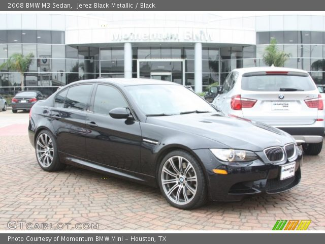jerez black metallic 2008 bmw m3 sedan black interior. Black Bedroom Furniture Sets. Home Design Ideas