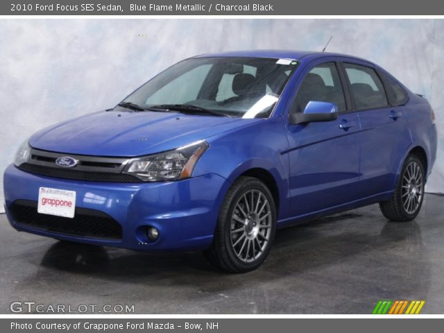 blue flame metallic 2010 ford focus ses sedan charcoal. Black Bedroom Furniture Sets. Home Design Ideas
