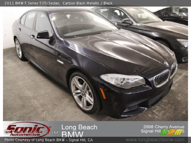 carbon black metallic 2011 bmw 5 series 535i sedan black interior vehicle. Black Bedroom Furniture Sets. Home Design Ideas