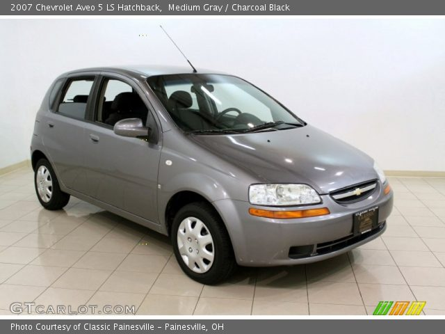 medium gray 2007 chevrolet aveo 5 ls hatchback. Black Bedroom Furniture Sets. Home Design Ideas