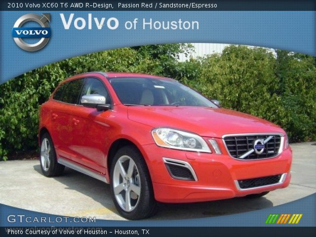 passion red 2010 volvo xc60 t6 awd r design sandstone. Black Bedroom Furniture Sets. Home Design Ideas