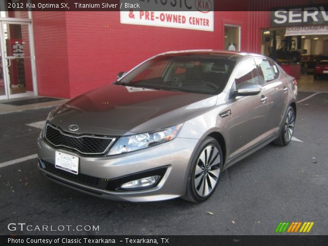 titanium silver 2012 kia optima sx black interior. Black Bedroom Furniture Sets. Home Design Ideas