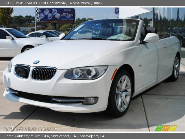 alpine white 2012 bmw 3 series 328i convertible black interior vehicle. Black Bedroom Furniture Sets. Home Design Ideas
