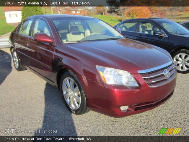 Cassis Red Pearl 2007 Toyota Avalon Xls Ivory Interior