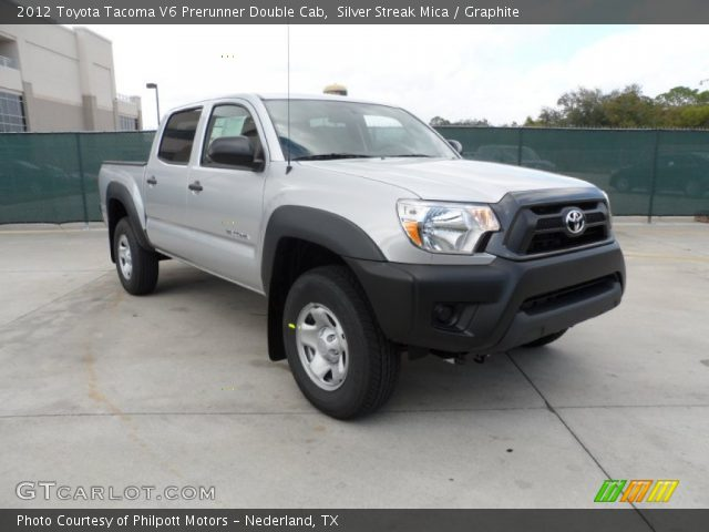 silver streak mica 2012 toyota tacoma v6 prerunner double cab graphite interior gtcarlot. Black Bedroom Furniture Sets. Home Design Ideas