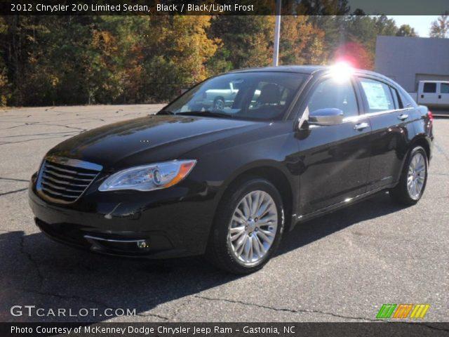 black 2012 chrysler 200 limited sedan black light. Black Bedroom Furniture Sets. Home Design Ideas