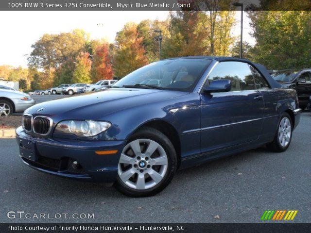2005 BMW 3 Series 325i Convertible in Mystic Blue Metallic