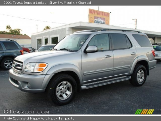 silver sky metallic 2001 toyota sequoia limited charcoal interior vehicle. Black Bedroom Furniture Sets. Home Design Ideas