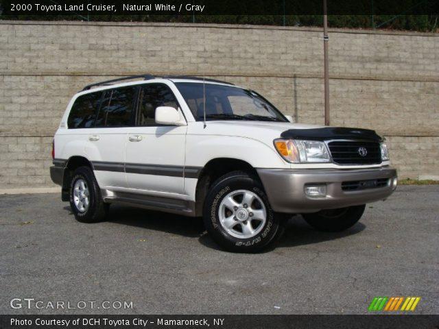 natural white 2000 toyota land cruiser gray interior gtcarlot com vehicle archive 56014161 gtcarlot com