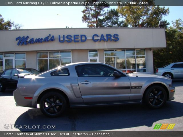 vapor silver metallic 2009 ford mustang gt cs california special coupe black steel interior. Black Bedroom Furniture Sets. Home Design Ideas