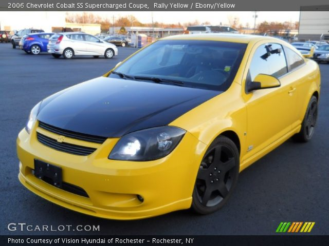 rally yellow 2006 chevrolet cobalt ss supercharged coupe ebony yellow interior gtcarlot. Black Bedroom Furniture Sets. Home Design Ideas