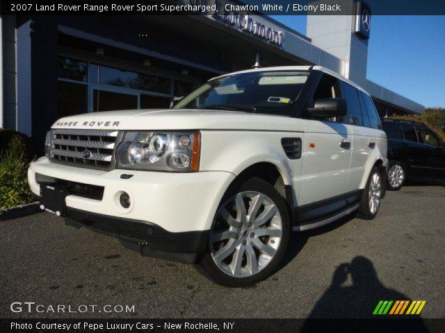 Chawton White 2007 Land Rover Range Rover Sport Supercharged Ebony Black Interior Gtcarlot