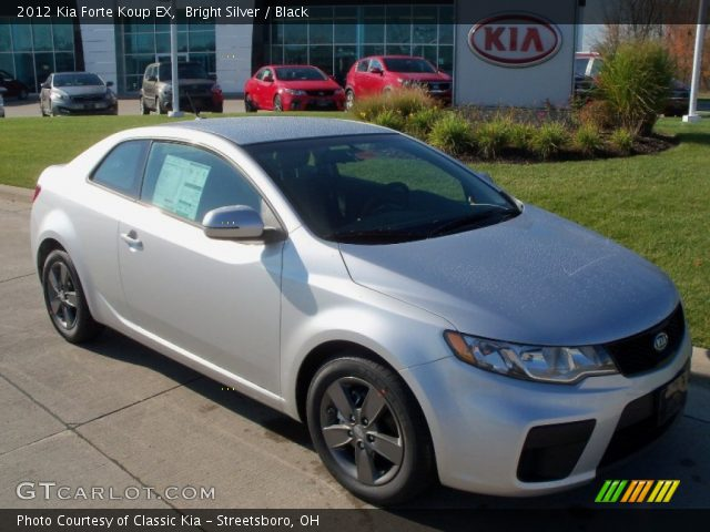bright silver 2012 kia forte koup ex black interior vehicle archive 56014064. Black Bedroom Furniture Sets. Home Design Ideas