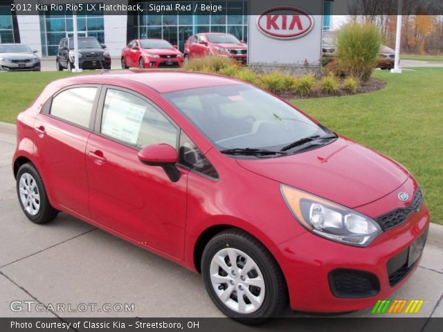 2012 Kia Rio Rio5 LX Hatchback in Signal Red