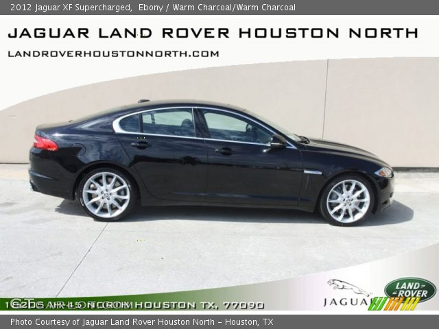 ebony 2012 jaguar xf supercharged warm charcoal warm charcoal interior. Black Bedroom Furniture Sets. Home Design Ideas