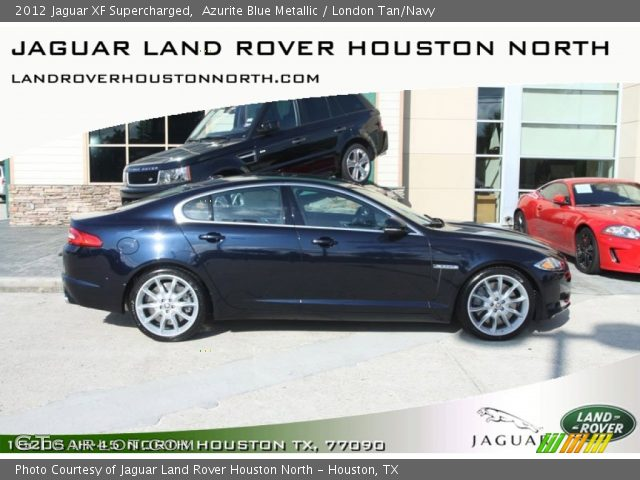 azurite blue metallic 2012 jaguar xf supercharged london tan navy interior. Black Bedroom Furniture Sets. Home Design Ideas