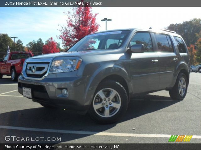 Sterling Gray Metallic 2009 Honda Pilot Ex L Black Interior Vehicle Archive