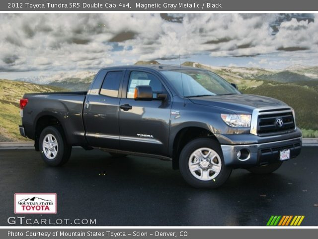 magnetic gray metallic 2012 toyota tundra sr5 double cab 4x4 black interior. Black Bedroom Furniture Sets. Home Design Ideas