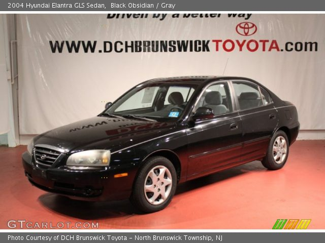 black obsidian 2004 hyundai elantra gls sedan gray. Black Bedroom Furniture Sets. Home Design Ideas