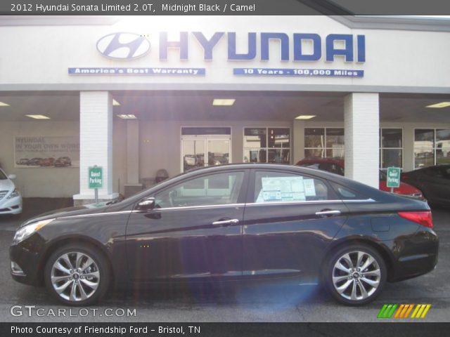 midnight black 2012 hyundai sonata limited 2 0t camel interior vehicle. Black Bedroom Furniture Sets. Home Design Ideas