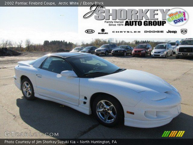 arctic white 2002 pontiac firebird coupe ebony black. Black Bedroom Furniture Sets. Home Design Ideas