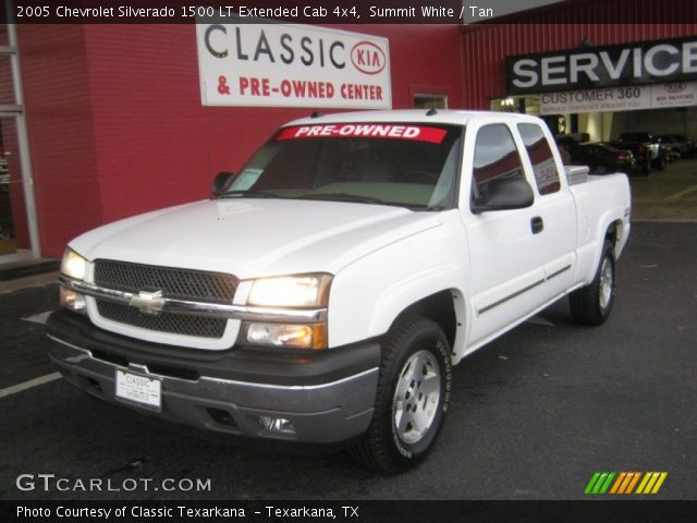 summit white 2005 chevrolet silverado 1500 lt extended cab 4x4 tan interior. Black Bedroom Furniture Sets. Home Design Ideas
