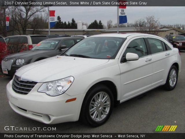 stone white 2007 chrysler sebring limited sedan dark. Black Bedroom Furniture Sets. Home Design Ideas