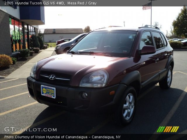 mesa red 2005 hyundai tucson gls v6 4wd gray interior. Black Bedroom Furniture Sets. Home Design Ideas