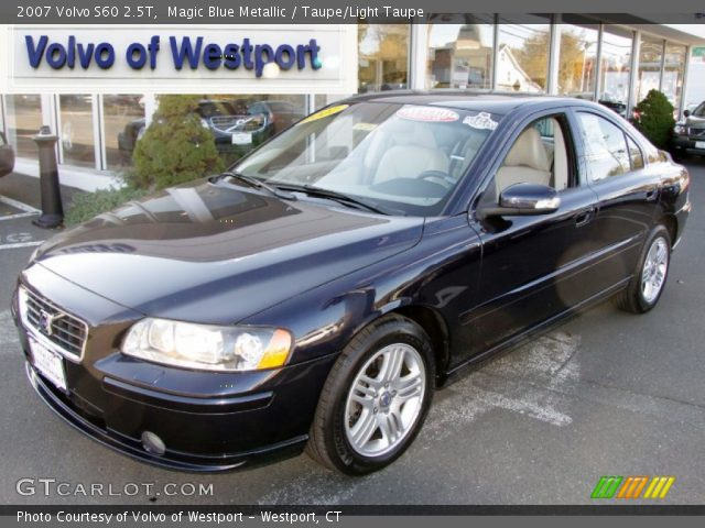 magic blue metallic 2007 volvo s60 2 5t taupe light taupe interior vehicle. Black Bedroom Furniture Sets. Home Design Ideas
