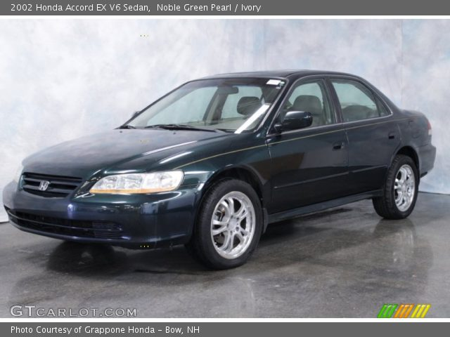 noble green pearl 2002 honda accord ex v6 sedan ivory interior vehicle. Black Bedroom Furniture Sets. Home Design Ideas