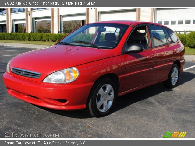 classic red 2002 kia rio cinco hatchback gray interior. Black Bedroom Furniture Sets. Home Design Ideas