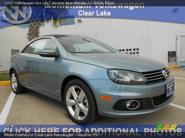 horizon blue metallic 2012 volkswagen eos lux cornsilk. Black Bedroom Furniture Sets. Home Design Ideas