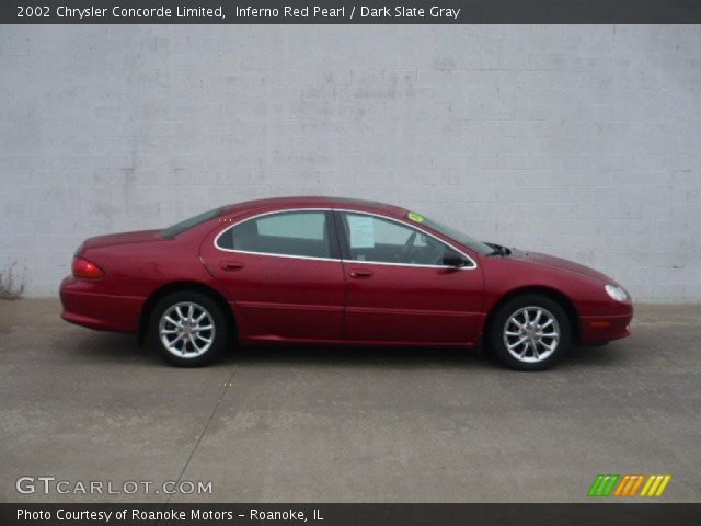 Inferno Red Pearl 2002 Chrysler Concorde Limited with Dark Slate Gray ...