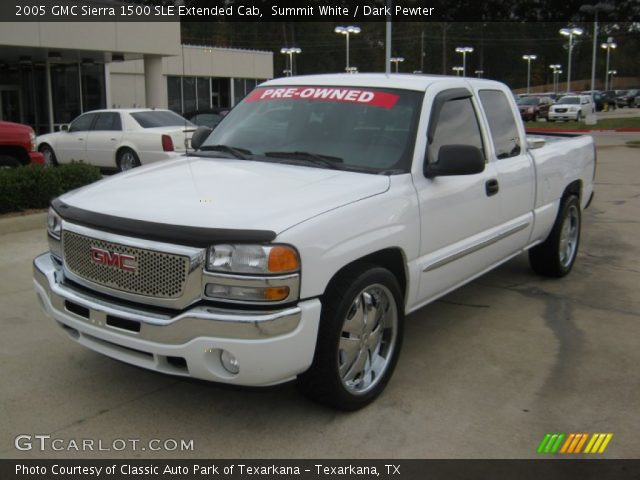 summit white 2005 gmc sierra 1500 sle extended cab dark pewter interior. Black Bedroom Furniture Sets. Home Design Ideas