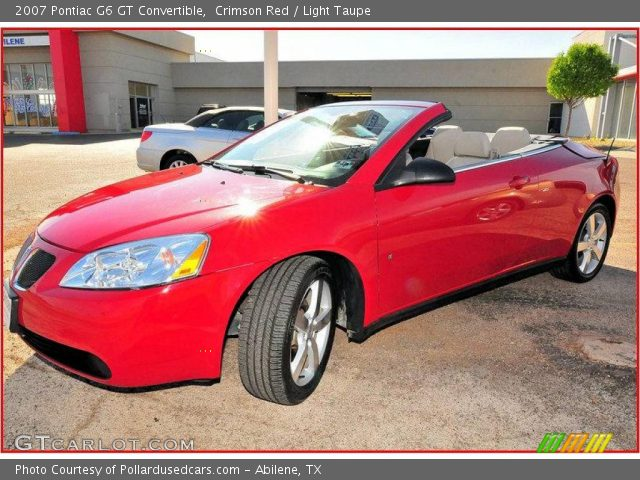 Toyota Dealers In Spokane 2007 Pontiac G6 Gt Convertible Crimson Red Light Taupe Photo 7 | Short ...