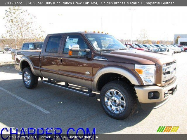 golden bronze metallic 2012 ford f350 super duty king ranch crew cab 4x4 chaparral leather. Black Bedroom Furniture Sets. Home Design Ideas