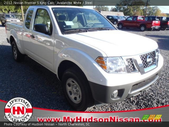 avalanche white 2012 nissan frontier s king cab steel interior vehicle. Black Bedroom Furniture Sets. Home Design Ideas