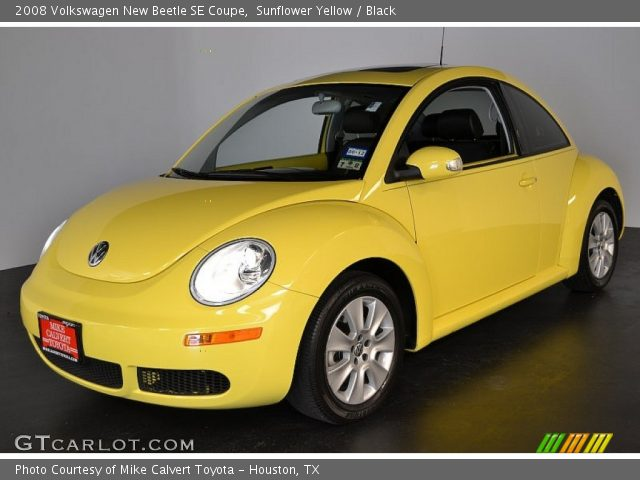 Sunflower Yellow 2008 Volkswagen New Beetle Se Coupe Black Interior Vehicle