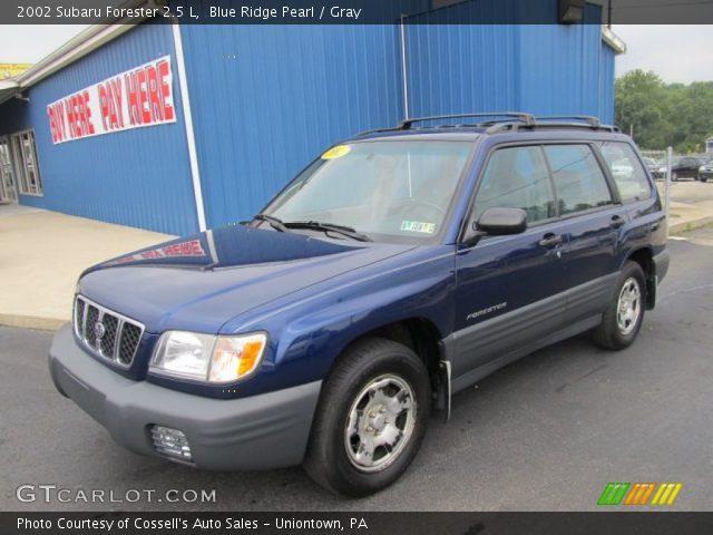 Blue Ridge Pearl 2002 Subaru Forester 2 5 L Gray Interior Vehicle Archive