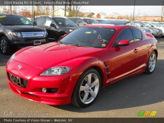 velocity red mica 2008 mazda rx 8 sport black red interior vehicle archive. Black Bedroom Furniture Sets. Home Design Ideas