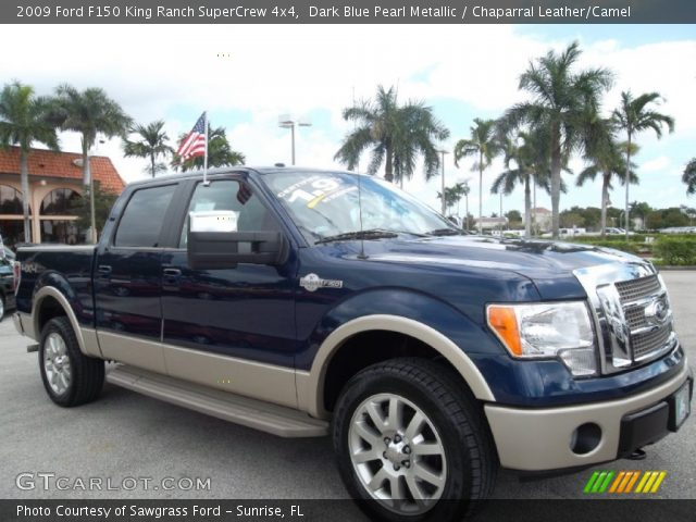 2009 Ford F150 King Ranch SuperCrew 4x4 in Dark Blue Pearl Metallic