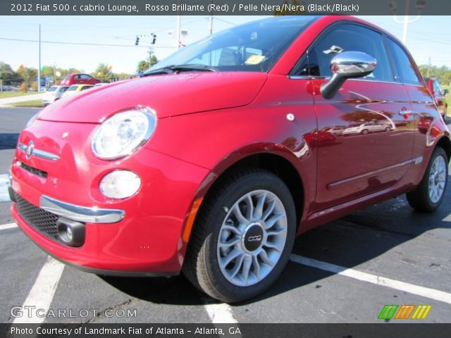 2012 Fiat 500 c cabrio Lounge in Rosso Brillante (Red)
