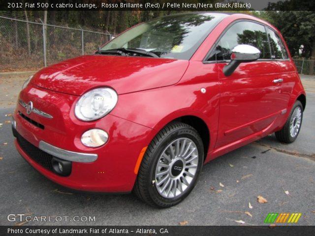 2012 Fiat 500 c cabrio Lounge in Rosso Brillante (Red)