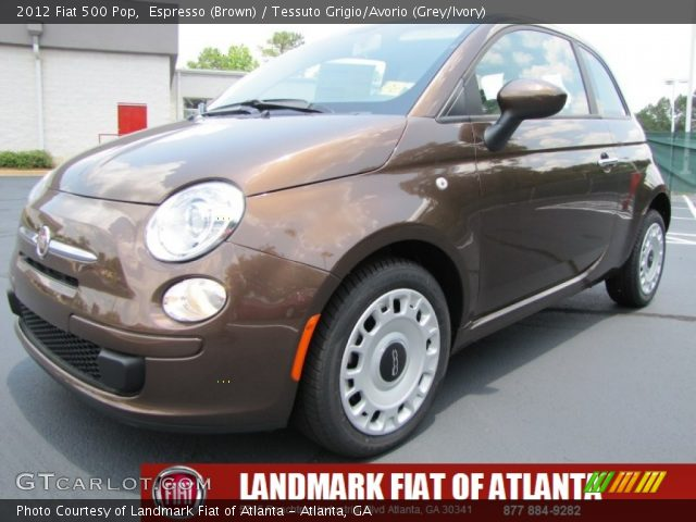 2012 Fiat 500 Pop in Espresso (Brown)