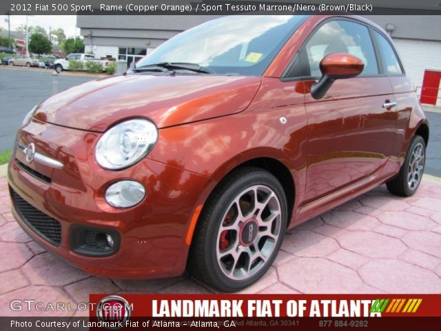 2012 Fiat 500 Sport in Rame (Copper Orange)