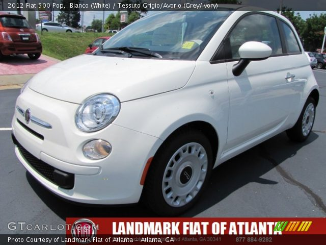 2012 Fiat 500 Pop in Bianco (White)