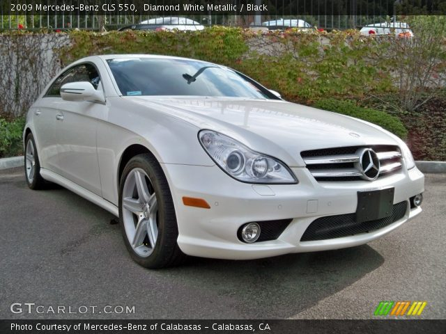 diamond white metallic 2009 mercedes benz cls 550. Black Bedroom Furniture Sets. Home Design Ideas