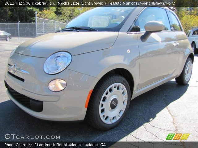 2012 Fiat 500 c cabrio Pop in Mocha Latte (Light Brown)